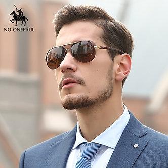 NO.ONEPAUL Polarized Men Sunglasses Designer Retro Square Sun Unisex Driving