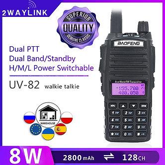 BaoFeng UV-82 Walkie-Talkie 5W 8W U/v Baofeng UV 82 Headset Walkie Talkie 10 KM