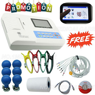 Touch-Auto-Manual-Digital-3-channel-12-lead-ecg-machine-software-printer-CE