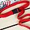 Thumbnail: 120cm Candy Colors Women Men Canvas Belt Plastic Buckle Tactical Long Red Black