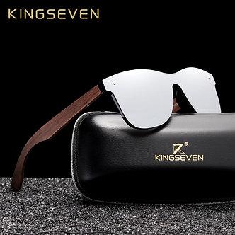 KINGSEVEN 2019 Luxury Walnut Wood Sunglasses Polarized Wooden Brand Designer