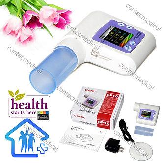 CE SP10 Lung Volume Pulmonary Function Digital Spirometer VC FEV1 PEF Spirometry