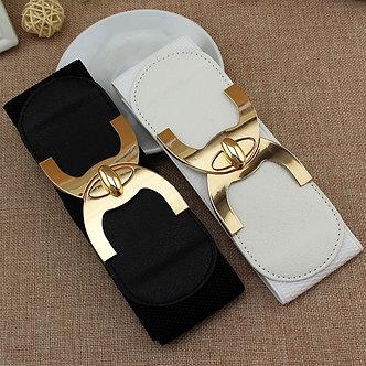 2020 New Fashion Korean Style Buckle Elastic Wide Belt Wide Cummerbund Strap