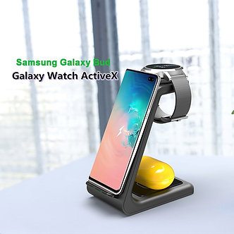 3 in 1 QI Wireless Charger for Samsung S10 Plus 10W Fast Charger Wireless Dock
