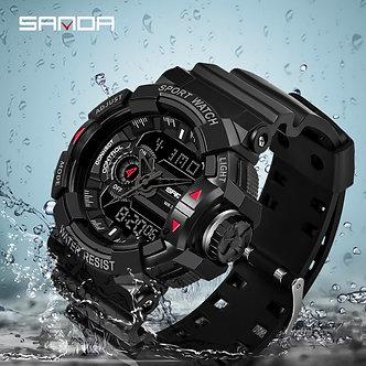 2019 New SANDA Military Watch Men's Top Brand Luxury Waterproof Sports Watch