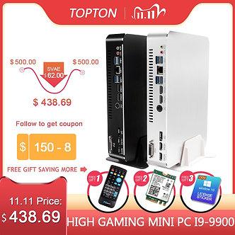 2019 Gaming Mini PC Desktop Level I9-9900 I7-9700f I5-9400f GTX1050TI 4G GPU