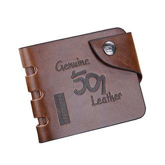 Baellerry Leather Vintage Wallet Men Money Bag Purse Male Clutch Card Holder