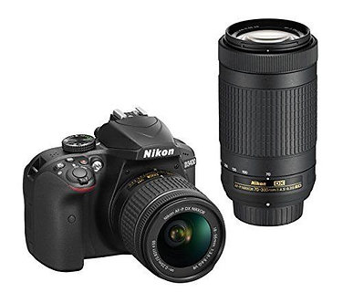 NEW Nikon D3400 DSLR Camera with AF-P DX 18-55mm G VR and 70-300mm G ED