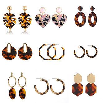 2020 Hot Sale Acrylic Resin Leopard Dangle Earring for Women Fashion