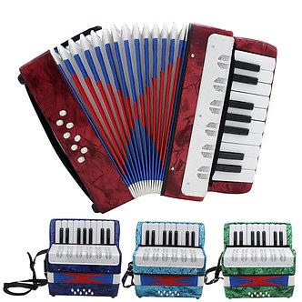 17 Key Professional Mini Accordion Educational Musical Instrument Cadence Band