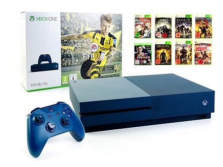 Microsoft XBOX ONE S Konsole 500GB GO INK BLUE +Controller +Spiel Blau USK18