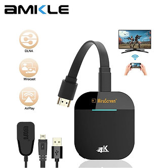 AMKLE Mirascreen G5 PLUS 4K Wireless HDMI-compatible Dongle TV Stick Miracast