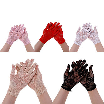 1Pair Female Sexy Lace Driving Gloves Spring and Summer Women's Thin Lace
