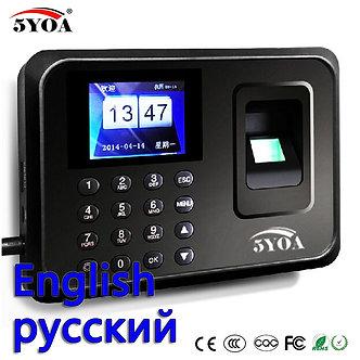 5YOA Biometric Attendance System USB Fingerprint Reader Time Clock Employe