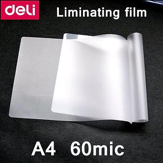 100pcs/Lot Deli A4-60c Thermal Laminating Film A4(220x308mm) Size