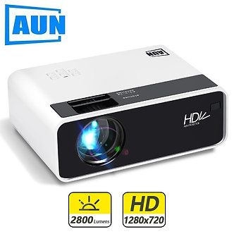 AUN Mini Projector D60 1280 X 720P Support Full HD 1080P for Home Theater