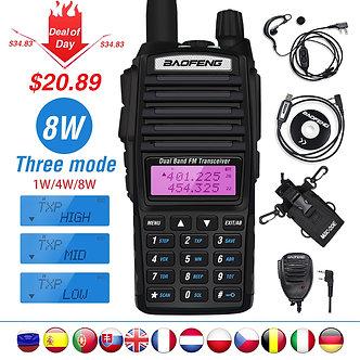 High 8W Baofeng UV-82 Walkie Talkie UV 82 Hunting Portable CB Ham Radio 10km