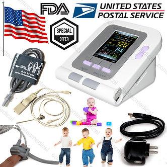 USA Infant/Pediatric Upper Arm Blood Pressure Monitor NIBP+SpO2 probe+AC Adaptor