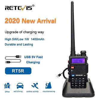 RETEVIS RT5R Handy Walkie Talkie 5W VHF UHF USB Ham Amateur Two-Way Radio