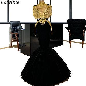 Arabic Luxury Long Celebrity Dresses 2019 Mermaid Gorgeous Pearls Couture Kaftan