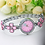 Thumbnail: 1PCs Four-Leaf Clover Luxury Women's Fashion Quartz Watch Rhinestone Bracelet