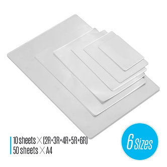 80mic Thermal Laminating Film Pouches PET Clear Sheet Photo Paper Document