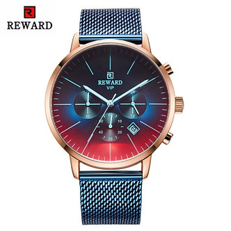 2019 New Fashion Color Bright Glass Watch Men Top Luxury Brand Chronograph Men's