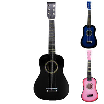 23 Inch Black Basswood Acoustic Guitar With Guitar Pick Wire Strings Musical