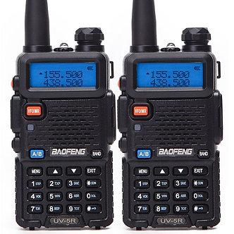 1Or 2PCS Baofeng BF-UV5R Ham Radio Portable Walkie Talkie Pofung UV-5R 5W VHF