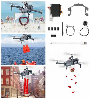 Air-Dropping Thrower System Wedding Ring Gift Emergency Remotely Delivery