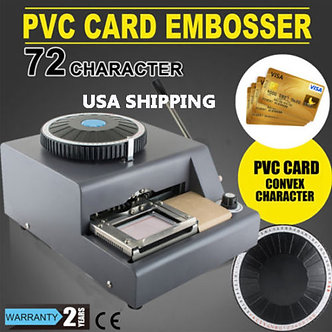 72-Letter-Embosser-Machine-PVC-Sample-Card-Credit-ID-VIP-Embossing-USA-Warehouse