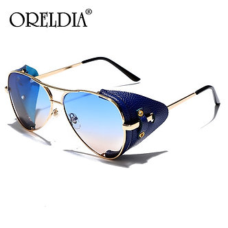 UV400 Sunglasses Steampunk Style Round Retro Designer Style Unisex Fashion