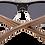 Thumbnail: Real Ebony Browline Style RetroShade Sunglasses by WUDN
