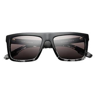 Sepulveda: Polished Dazzle - Brushed Black / Grey Lens