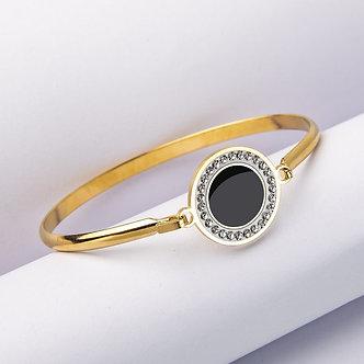 11 Styles Stainless Steel Bracelet Crystal Bracelet Gold Charm Love Bracelet
