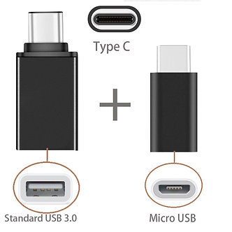 2in1 Type C to USB OTG Adaptor Type-C to Micro USB Adapter for Xiaomi Mi A1 8
