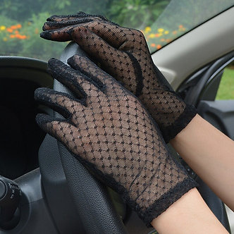1 Pair New Summer Lace Gloves Women Sexy Mesh Black Driving Fishnet Gloves