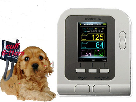 USA!!FDA CE New color LCD Digital Blood Pressure Monitor+ VET BP cuff, pets Care