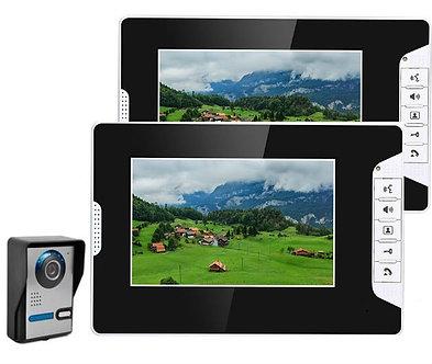 """7"""" Video Intercom Doorbell Night Vision IR 700tvl Door Camera Waterproof Unlock"""