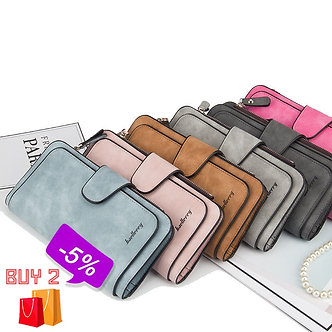 Baellerry Leather Women Wallets Coin Pocket Hasp Card Holder Money Bags Casual