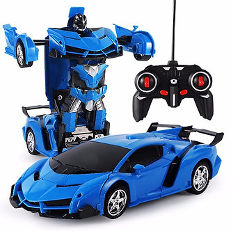 2 in 1 RC Car Deformation Robot Driving Sports Vehicle Model 1:18 Remote
