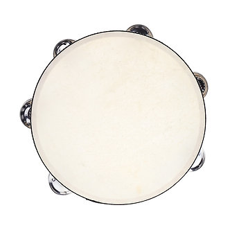 """8"""" Double Row Tambourine Drum Bell Birch Metal Jingles Percussion Musical"""