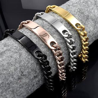 ATGO ID Bracelet 316L Stainless Steel Best Friends Fashion Men Wholesale Retail