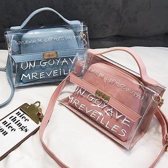 2021 New Women Handbag High Quality Transparent Bag Women Bag Clear Bag Bolsa