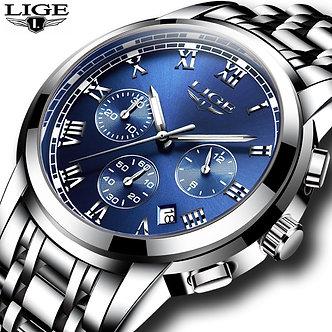 2020 Men Watch Luxury Top Brand LIGE Sport Chronograph Watches Mens Waterproof