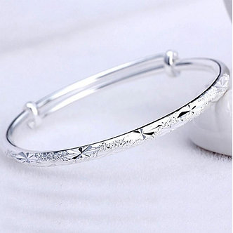 925 Sterling Silver Adjustable Scrub Star Bracelets & Bangles for Women