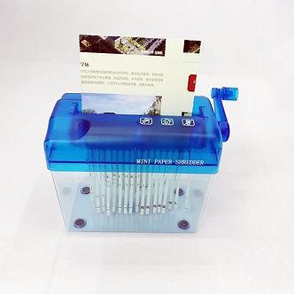 A6 Mini Manual Shredder Crusher Destroyer Paper Documents Handmade