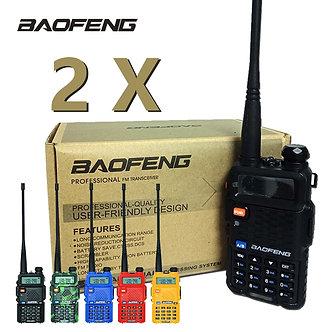 2Pcs Baofeng UV-5R Walkie Talkie UV5R CB Radio Station 5W 128CH VHF UHF Dual