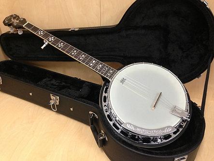Caraya BJ-007 Premium 5-string Mahogany Resonator Banjo w/Tone Ring + Hard case