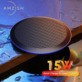 Amzish 15W Fast QI Wireless Charger for iPhone 11 Pro 8 X XR XS Max 15W USB